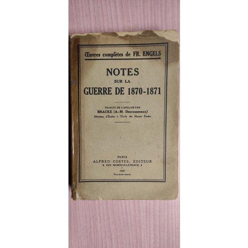 Notes Sur la Guerre de 1870-1871