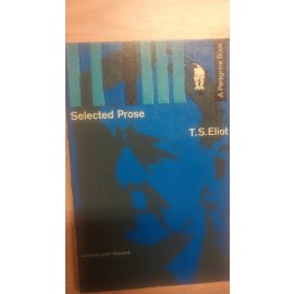 Selected Prose - Eliot