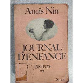 Journal d'Enfance 1914-1919 (Anais Nin)