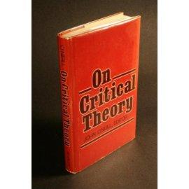 On Critical Theory